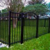 3 Rail Flat Top Aluminum Fences Style v2