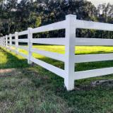 3 Rail Vinyl Ranch Rail Fence Style v2