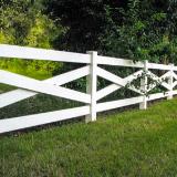 4 Rail Crossbuck Vinyl Ranch Rail Fence Style v2