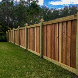 Capped Board-on-Board Privacy Fence Style v2