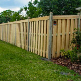 Capped Wood Semi-Privacy Fence Style v2