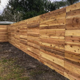 Horizontal Wood Privacy Fence Style v2