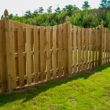 Saddle Cut Wood Semi-Privacy Fence Style v2