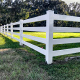 Vinyl Ranch Rail Fences Style v2